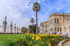 Jardines del palacio de Dolmagahce en la primavera Imagenes de archivo