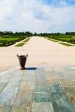 Jardines del palacio real de Venaria Foto de archivo libre de regalías