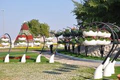 Jardines del paraíso de Al Ain Imagen de archivo libre de regalías