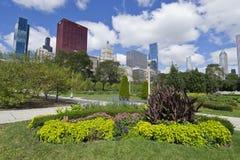 Jardines del parque de Grant en Chicago Foto de archivo