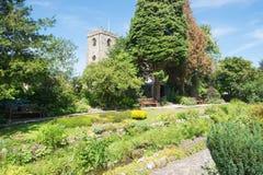 Jardines del pueblo de Waddington en Lancashire Un pueblo muy bastante inglés Foto de archivo libre de regalías