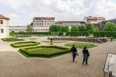 Jardines del senado en Praga Fotografía de archivo