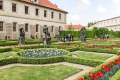 Jardines del senado en Praga Imagen de archivo libre de regalías