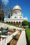 Jardines del templo de Bahai, Haifa, Israel foto de archivo
