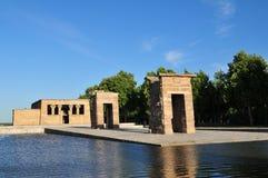 Jardines del Templo de Debod Stock Image