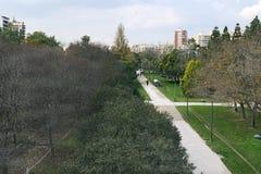 Jardines del Turia & x28; Zhardines事物Turia& x29;巴伦西亚 西班牙 库存图片