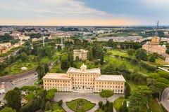 Jardines del Vaticano Imagen de archivo libre de regalías