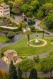 Jardines del Vaticano Imágenes de archivo libres de regalías