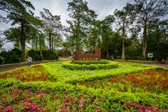 Jardines en Da& x27; un parque, en el Da& x27; un distrito, de Taipei, Taiwán foto de archivo libre de regalías