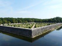 Jardines en el castillo francés de Chenonceau, Francia Imagen de archivo
