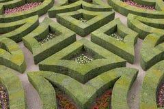 Jardines formales en el castillo francés, de, villandry, loire, valle, Francia Imagen de archivo libre de regalías