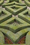 Jardines formales en el castillo francés, de, villandry, loire, valle, Francia Fotografía de archivo libre de regalías