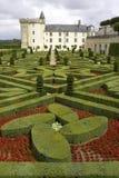 Jardines formales en el castillo francés, de, villandry, loire, valle, Francia Foto de archivo libre de regalías