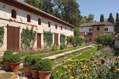 Jardines hermosos de Generalife fotografía de archivo