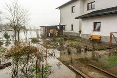 Jardines inundados Imagen de archivo libre de regalías