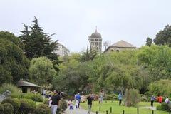 Jardines japoneses en el La Serena Chile imagen de archivo