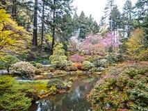Jardines japoneses Portland Oregon Foto de archivo libre de regalías
