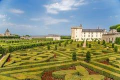 Jardines ornamentales del castillo de Villandry, Francia Fotografía de archivo libre de regalías
