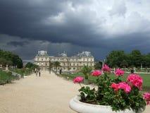 Jardines París Francia de Luxemburgo foto de archivo