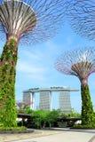 Jardines por la bahía en Singapur imagen de archivo