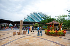 Jardines por la bahía, Marina Bay SINGAPUR Foto de archivo libre de regalías