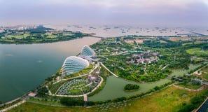 Jardines por la bahía, Singapur Imagen de archivo libre de regalías