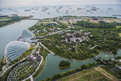 Jardines por la bahía Singapur Foto de archivo libre de regalías