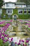 Jardines restaurante italiano del jardín de Butchart y del comedor imagen de archivo libre de regalías