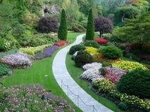 Jardines Sunken en los jardines de Butchart Foto de archivo
