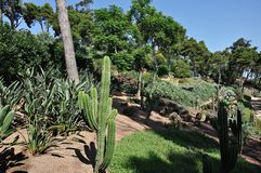 Jardines y castillo del roig del casquillo Foto de archivo