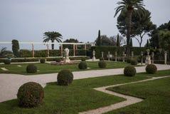 Jardines y chalet de Rothschild Foto de archivo