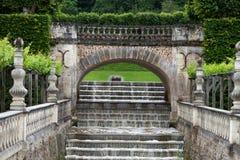 Jardines y Chateau de Villandry fotografía de archivo