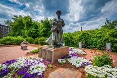 Jardines y monumento en Nashua, New Hampshire Imagenes de archivo