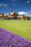Jardines y museo, Rotorua, Nueva Zelanda del gobierno Foto de archivo libre de regalías
