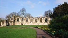 Jardines York Inglaterra Reino Unido del ` s Abbey Museum de St Mary Imágenes de archivo libres de regalías
