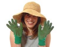 Jardinière heureuse de dame Photos libres de droits