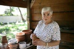 Jardinier aîné Image stock