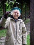 Jardinier aîné Photographie stock