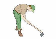 Jardinier au travail illustration stock