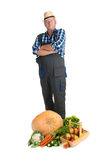 Jardinier avec la moisson photographie stock