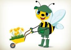 Jardinier Bee Image libre de droits