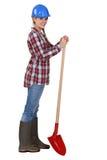 Jardinier d'horizontal féminin Photo stock