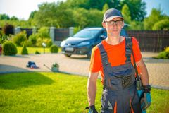 Jardinier de profession image stock