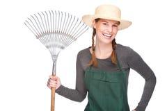 Jardinier féminin image stock