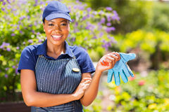 Jardinier féminin africain photo stock