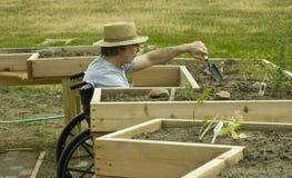 Jardinier handicapé Photo libre de droits