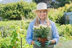 Jardinier satisfaisant Images libres de droits