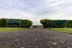 Jardins afundados em Margate, Kent, Inglaterra, Reino Unido imagem de stock
