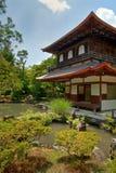Jardins argentés de temple de Kyoto Image libre de droits