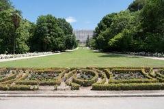 Jardins autour de Royal Palace de Madrid, Espagne Image libre de droits